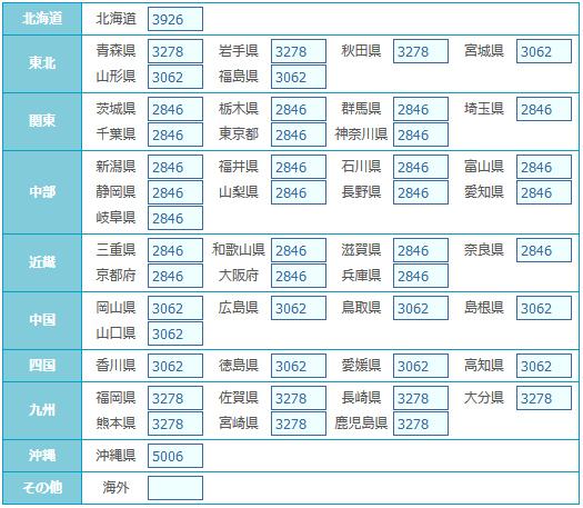 宅急便・クール宅急便【常温・冷凍】(※2個口)重さ:5000g〜10000g
